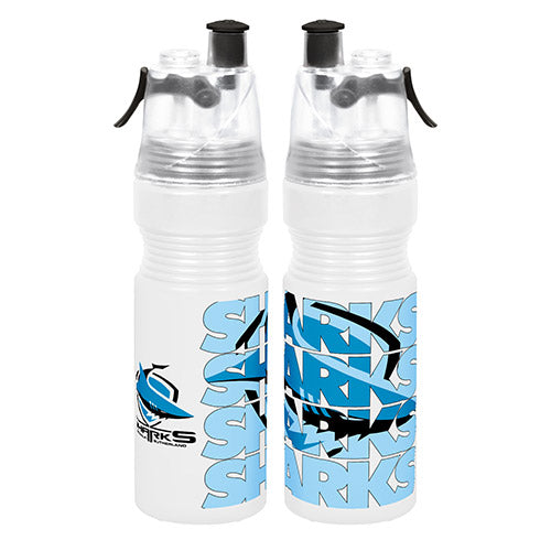 Cronulla Sharks Misting Drink Bottle