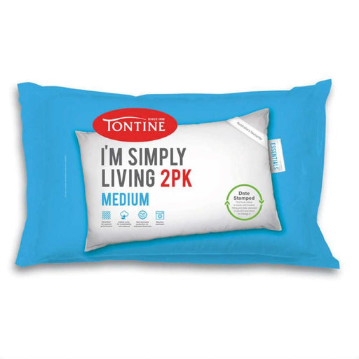Tontine I'm Simply Living Medium Pillow 2 Pack