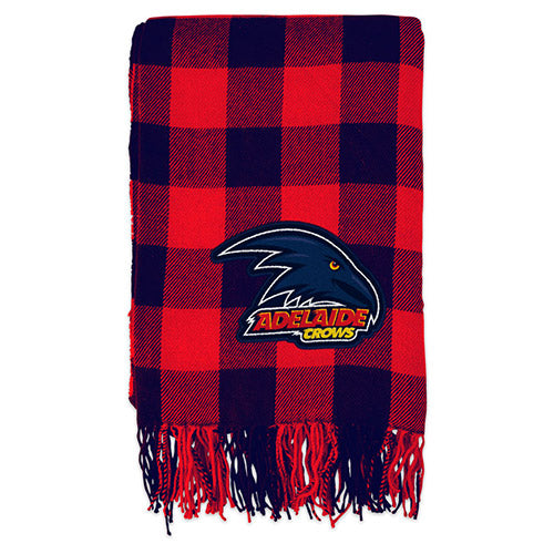 Adelaide Crows Tartan Throw