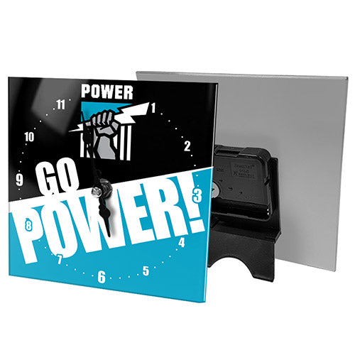 Port Adelaide Power Mini Glass Clock