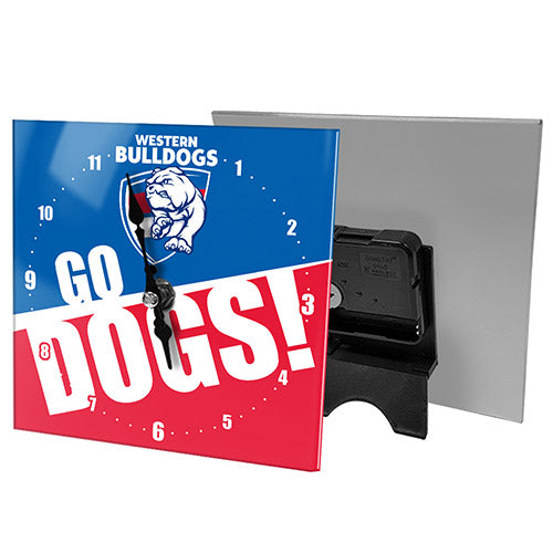 Western Bulldogs Mini Glass Clock