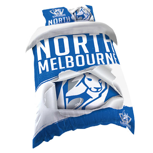 North Melbourne Kangaroos Quilt Cover - Single