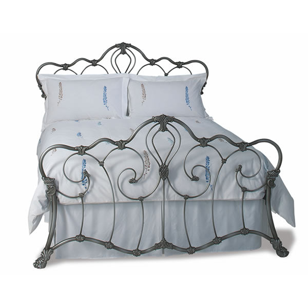 Atherton Cast Bed - Queen Size Silver Patina