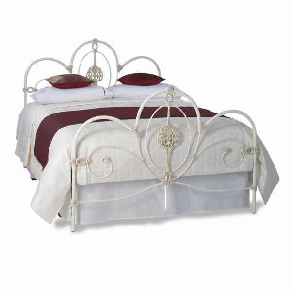 Ballarat Cast Bed - Queen Size Textured Ivory with Gold