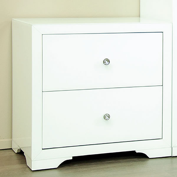 Boulevard Bedside Table In White