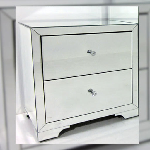 Boulevard Bedside Table In Silver