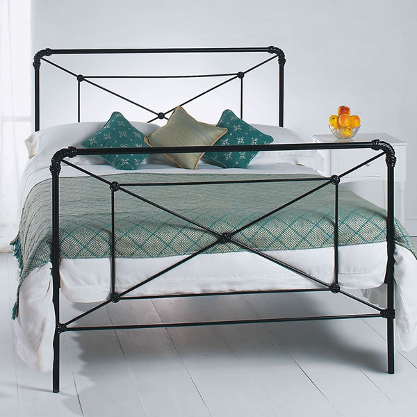 Caldwell Cast Bed - Queen Size Satin Black