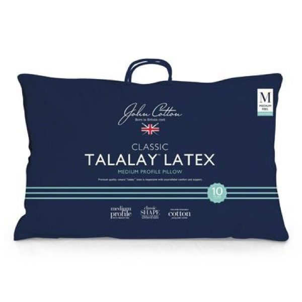 John Cotton Classic Medium Profile Talalay™ Latex Pillow