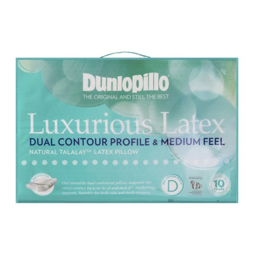 Dunlopillo Luxurious Latex Dual Contour Profile & Medium Feel Pillow