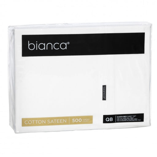 Bianca Kingston 500 Thread Count Cotton Sateen Sheet Set