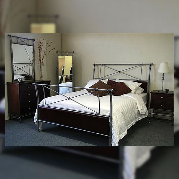 Darcy Timber and Iron Bed