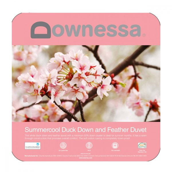 Downessa Summercool White Duck Down & Feather Quilt