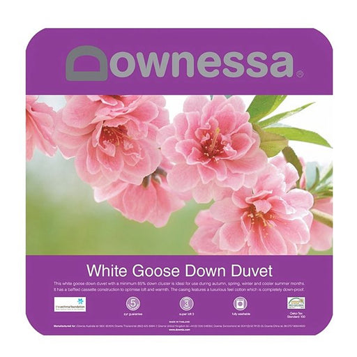 Downessa White Goose Down Quilt