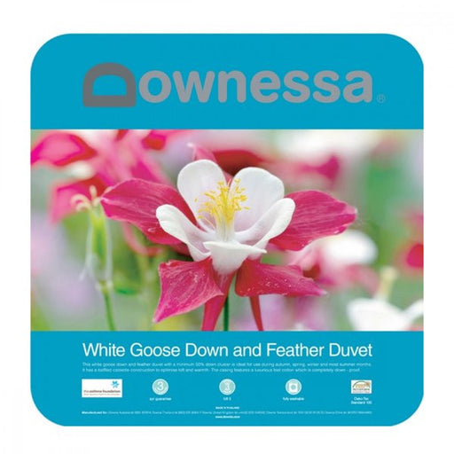 Downessa White Goose Down & Feather Quilt