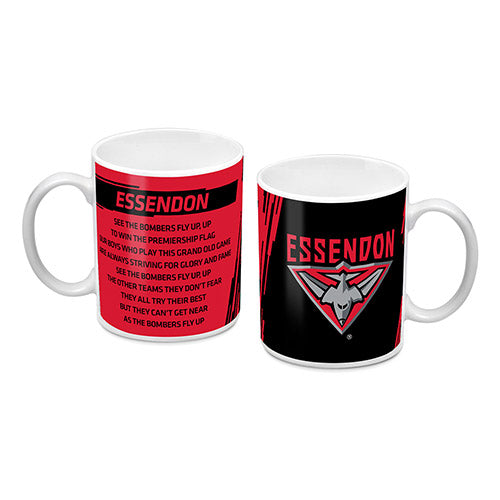 Essendon Bombers Logo and Song Mug