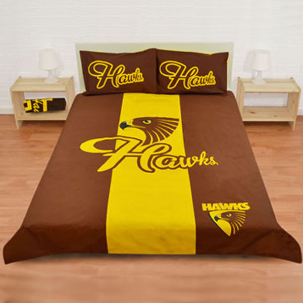 Hawthorn Hawks Quilt Cover - Double & Queen Size