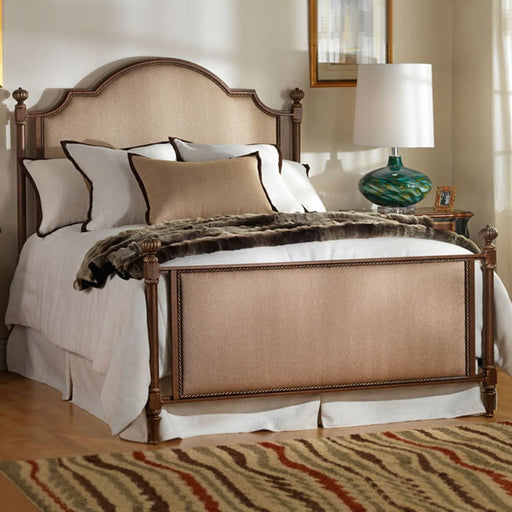 Jasmine Upholstered Cast Bed - Queen Size