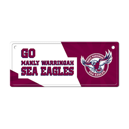 Manly Sea Eagles Licence Plate Sign