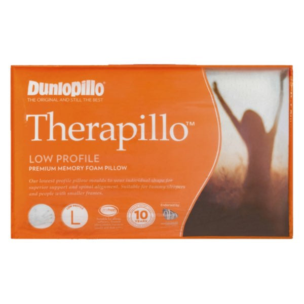 Dunlopillo Therapillo Premium Memory Foam Medium Profile Contoured Pillow