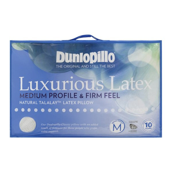 Dunlopillo Luxurious Latex Medium Profile & Firm Feel Pillow