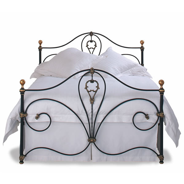 Melbourne Cast Bed - Queen Size Black Ivory with Gold