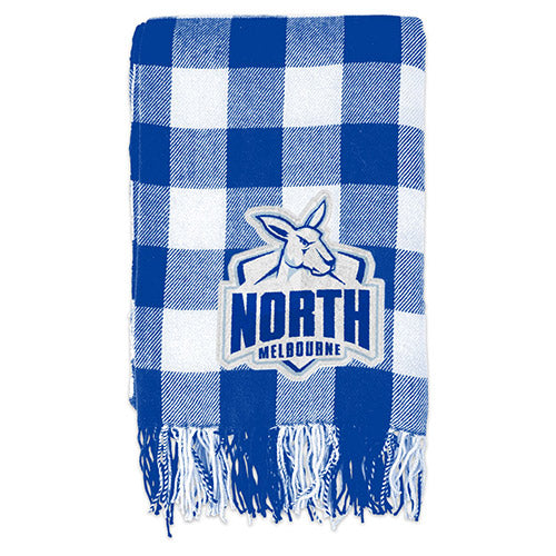 North Melbourne Kangaroos Tartan Throw