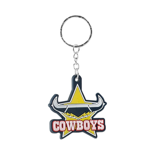 North Queensland Cowboys Rubber Logo Keyring
