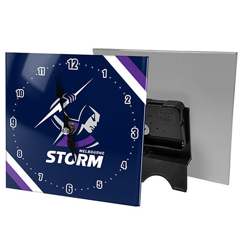 Melbourne Storm Mini Glass Clock