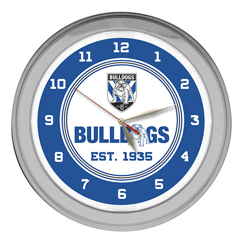 Canterbury Bulldogs Neon Clock