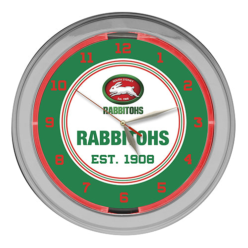 South Sydney Rabbitohs Neon Clock