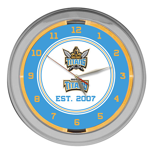 Gold Coast Titans Neon Clock