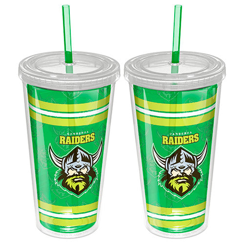 Canberra Raiders Plastic Tumbler With Straw