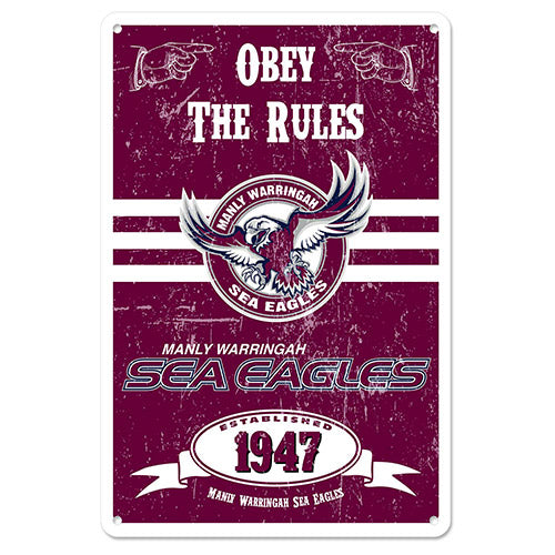 Manly Sea Eagles Metal Sign