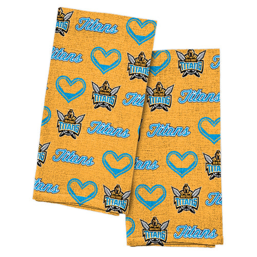 Gold Coast Titans Tea Towel 2 Pack