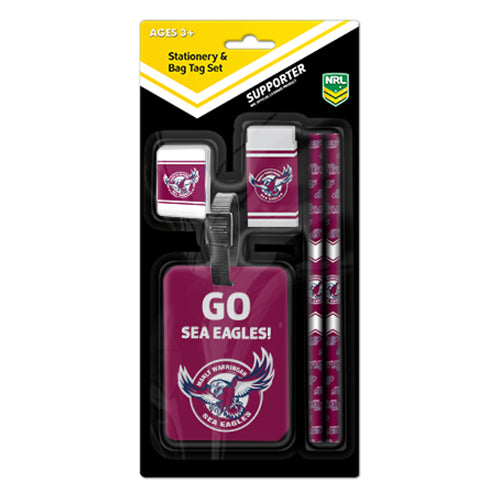 Manly Sea Eagles Stationery Set & Bag Tag