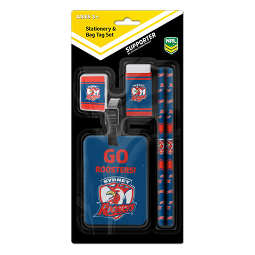 Sydney Roosters Stationery Set & Bag Tag