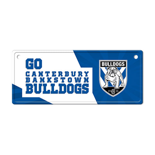 Canterbury Bulldogs Licence Plate Sign