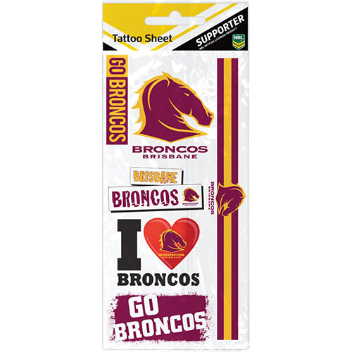 Brisbane Broncos Tattoo Sheet