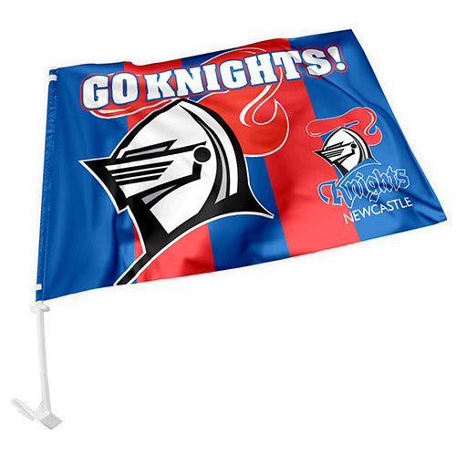 Newcastle Knights Car Flag