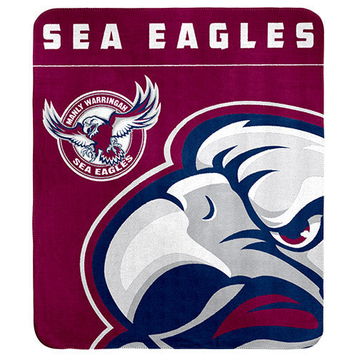 Manly Sea Eagles Polar Fleece Throw