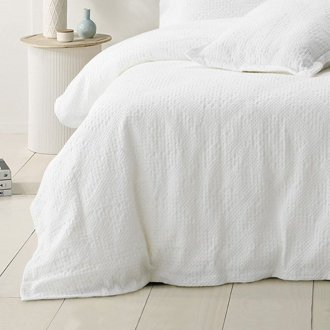 Colca Quilt Cover Set White