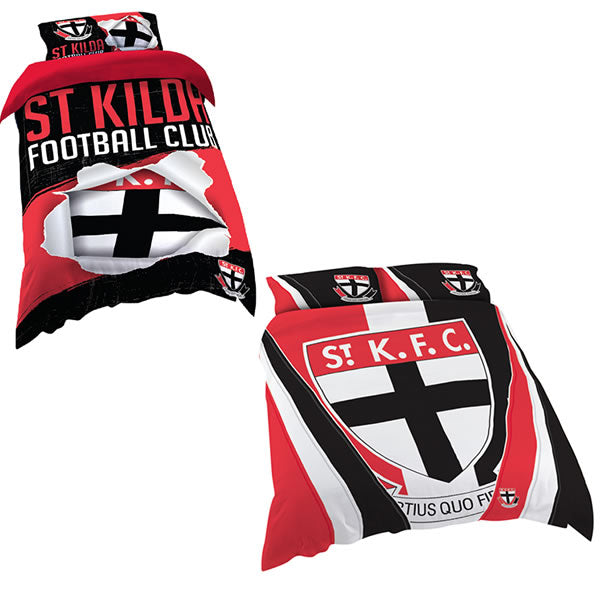 St Kilda Saints Quilt Cover