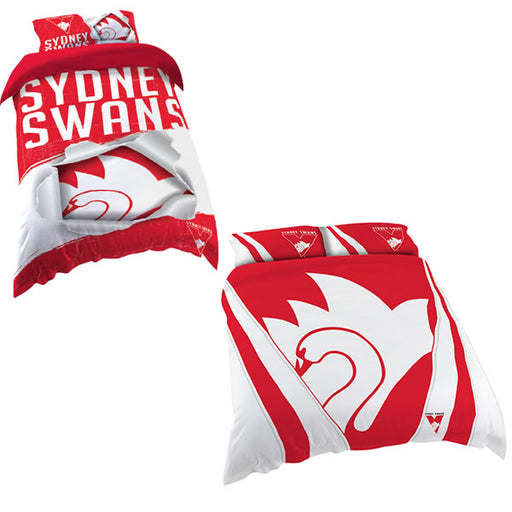 Sydney Swans Quilt Cover Sydney Swans Merchandise Afl Merchandise Sporting Goods Thebedroom Com Au The Bedroom
