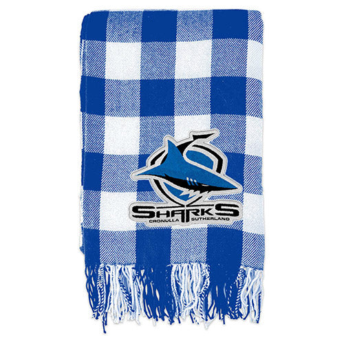 Cronulla Sharks Tartan Throw