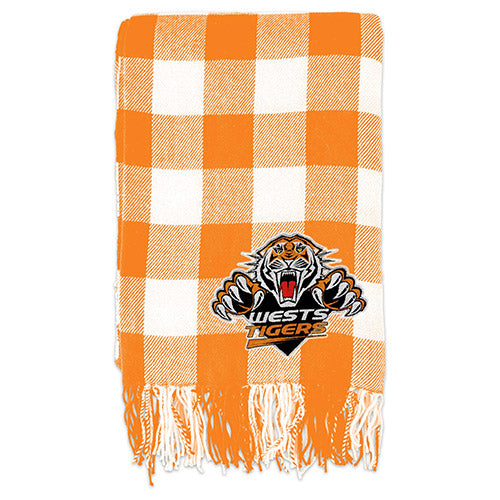 West Tigers Tartan Throw