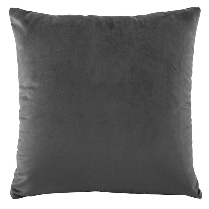 Velvet Charcoal European Pillow Case