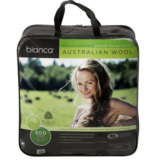 Bianca Woolly Comforts Wool Quilt - Summer