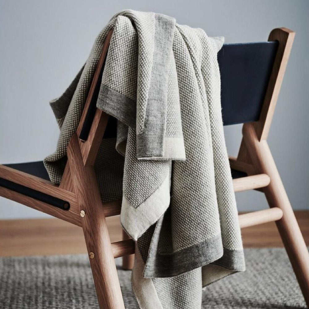 St Albans Alpaca/Merino Wool Knit Throw Rug