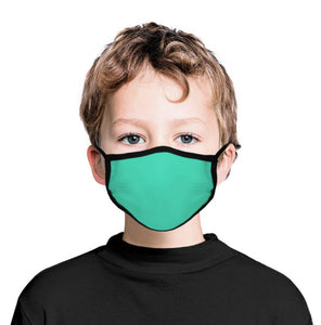 Turquoise Blue Kid's Face Masks, Non-Medical Fashion Face Covers for Children Boys Girls