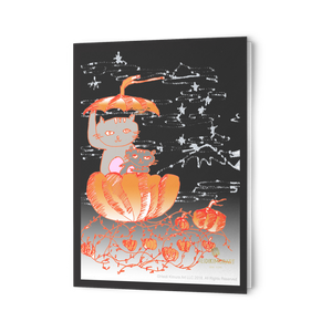 folded cards pumpkin cats hallween fall greeting cards